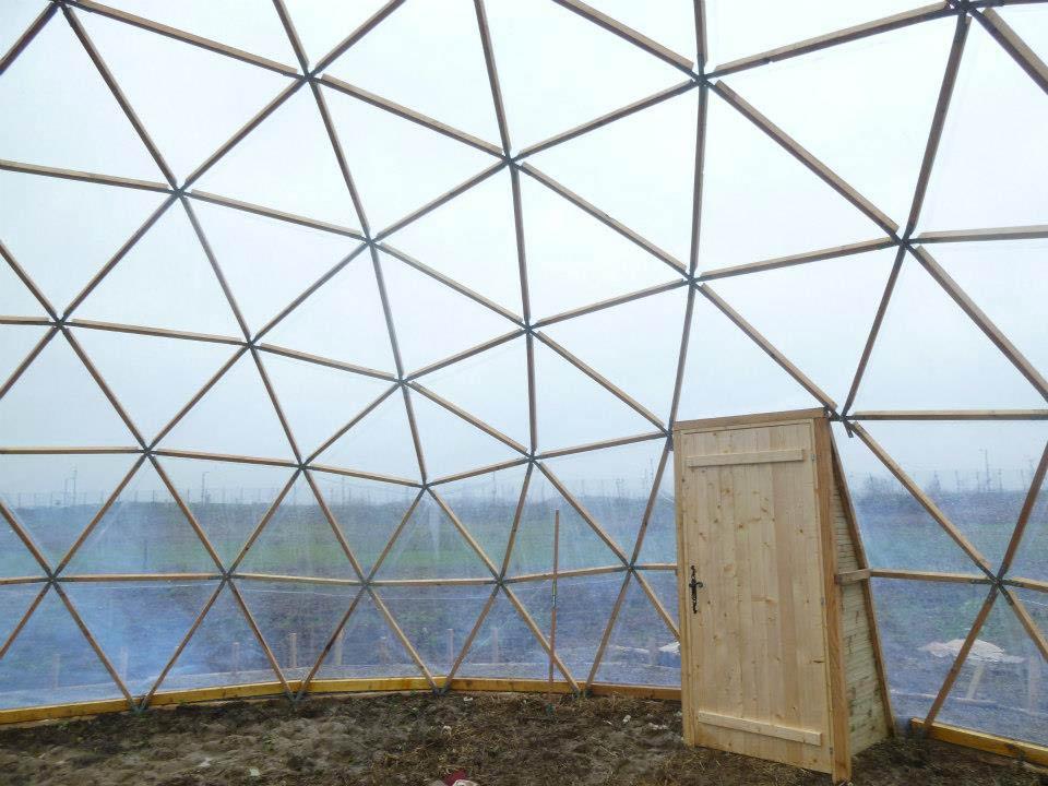 Serre de 100m2 dome f5 avec film cristal 5